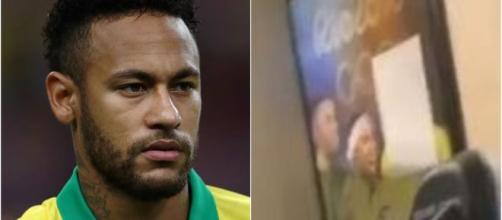 Neymar cobre rosto do cunhado em quadro de casa. (Arquivo Blasting News)