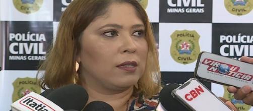Delegada Bianca Prado, responsável pelo inquérito sobre tortura e agressões em asilo de Belo Horizonte. (Reprodução/TV Globo)