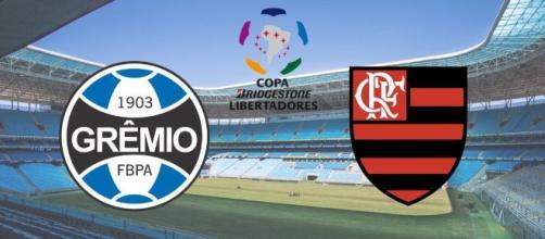 Grêmio 1x1 Flamengo: decisão fica para o Maracanã. (Fotomontagem)