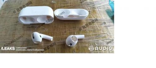 Render airpods di terza generazione