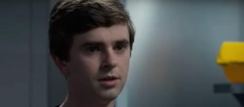 """Dr. Murphy (Freddie Highmore) puts his residency in peril after an OR incident with a nurse on """"The Good Doctor."""" [Image source:TVPromos-YouTube]"""