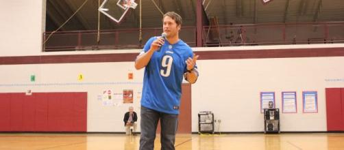 Matthew Stafford is averaging nearly 300 passing yards a game this season. [Image Source: Flickr | A Healthier Michigan]
