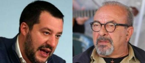 Dritto e Rovescio: scontro tra Matteo Salvini e Vauro