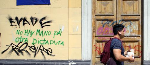 Pintada mostrando el descontento popular (Foto: Beatriz Carrillo)