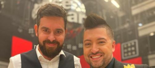 Chris Marques et Arnaud Journou sur le plateau de DALS