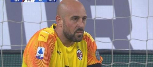 Goleiro espanhol falhou no gol do Genoa. (Reprodução/Serie A)