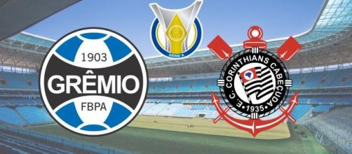 Grêmio x Corinthians: partida terá transmissão ao vivo no Premiere. (Fotomontagem)