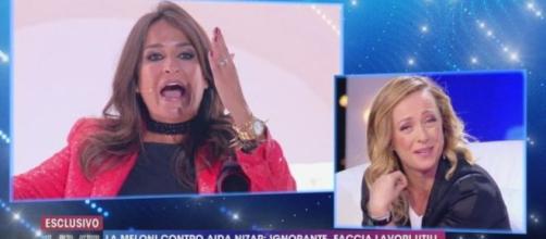 Live - Non è la d'Urso, Giorgia Meloni sbotta: 'Non sono qui a fare il pagliaccio'.