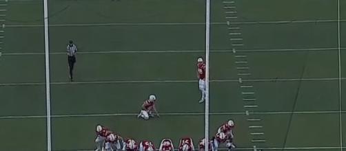 Lane McCallum got the win for Nebraska football. [Image via Big Ten Network/YouTube]