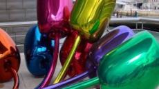 Jeff Koons' tulip sculpture is said to reek of self-promotion