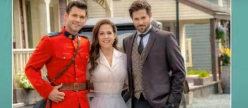 "Erin Krakow of ""When Calls the Heart"" can't be a tiebreaker between Nate and Lucas. [Image source:Hallmark Channel-YouTube]"
