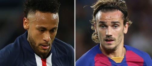 Mercato PSG : un échange Neymar - Griezmann 'priorité pour 2020'