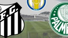 Santos x Palmeiras: transmissão ao vivo na TV Globo e TNT, nesta quarta (9), às 21h30