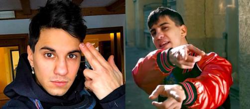 In entrambe le immagini Tedua, rapper genovese.