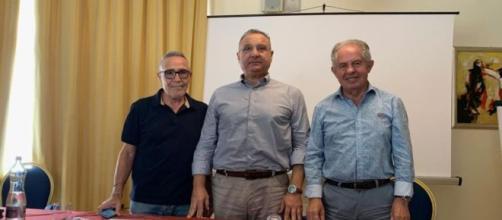 In foto: Maurizio Calà, Alfio Giulio e Antonino Toscano