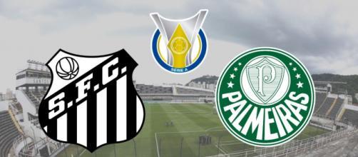 Santos x Palmeiras: transmissão ao vivo na TV Fechada, Aberta e internet. (Fotomontagem)
