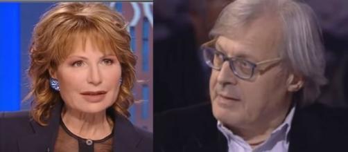 Sgarbi contro la Gruber: 'Parlato tanto del figlio di Salvini, poco di quello di Grillo'