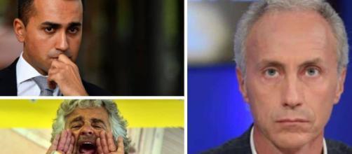 Marco Travaglio critica ironicamente il M5S