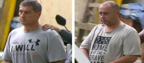 Ronnie Lessa e Élcio Queiroz, presos sob a acusação de assassinar a vereadora Marielle Franco e seu motorista. Reprodução/TV Globo
