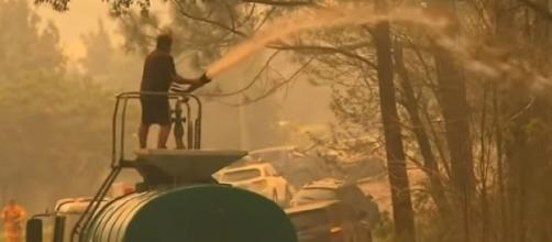 Catastrophic fire danger for greater Sydney, Hunter. [Image source/ Nine News Australia YouTube video]