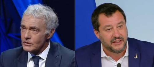 Massimo Giletti e Matteo Salvini.