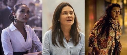 """Taís Araújo, Adriana Esteves e Regina Casé são as protagonistas de """"Amor de Mãe"""", que estreia dia 25 de novembro. (Reprodução/TV Globo)"""