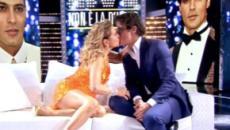Barbara d'Urso bacia Gabriel Garko sulla bocca e nota che non porta la fede (VIDEO)