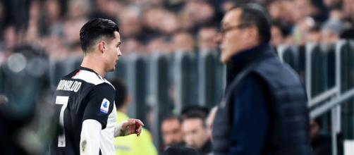Crstiano Ronaldo è sullo sfondo Sarri