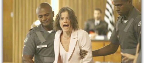 Josiane é condenada a trinta anos de prisão. (Reprodução/Rede Globo)