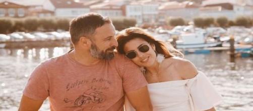 Lidia Bedman con Santiago Abascal. Fuente: Instagram.