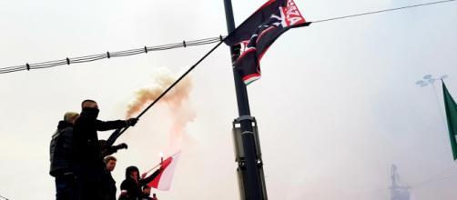 Militanti di Forza Nuova a Varsavia