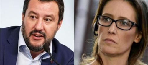 Matteo Salvini e la sorella di Stefano Cucchi