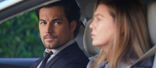 Meredith Grey ed Andrew DeLuca in crisi nell'ultimo episodio di Grey's Anatomy del 2019
