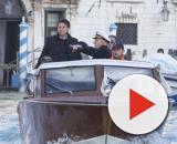 Giuseppe Conte in motoscafo a Venezia