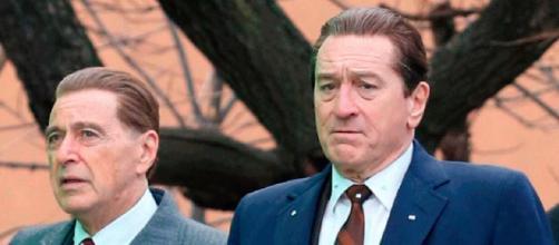 Al Pacino e Robert DeNiro em cena de 'O Irlandês.' (Arquivo Blasting News)