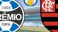 Grêmio x Flamengo: transmissão ao vivo na Rede Globo, neste domingo (17), às 16h
