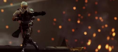 A Guardian equipped with a Xenophage. [Image source: destinygame/YouTube]