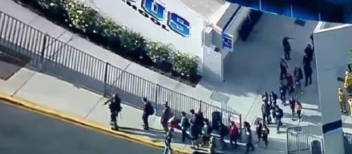 At least 2 dead after California school shooting. [Image source/ABC News YouTube video]