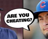 Yu Darvish hints that Christian Yelich is stealing signs. [Image via Fuzzy(v)/YouTube]