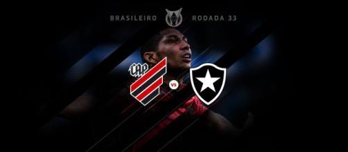 Athletico Paranaense e Botafogo se enfrentam pela 33ª rodada do Campeonato Brasileiro. (Reprodução/Athletico.com.br)