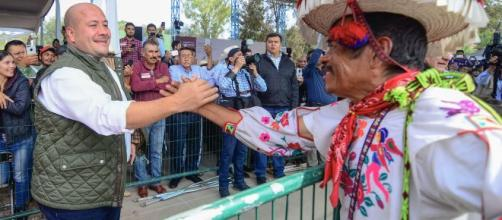El gobernador de Jalisco, Enrique Alfaro ratificó su compromiso de trabajar con los indígenas. - gob.mx