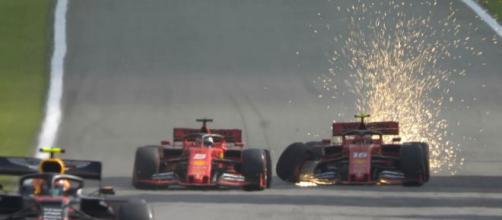 Leclerc-Vettel: incidente tra le Ferrari al GP del Brasile di F1.