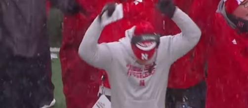 Nebraska football fans might be about to celebrate a commit [Image via Big Ten Network/YouTube]