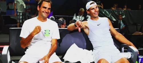 Roger Federer et Rafael Nadal. Credit: Instagram/rogerfederer
