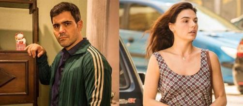 Magno (Juliano Cazarré) e Betina (Isis Valverde) vão se apaixonar em Amor de Mãe. Reprodução/TV Globo