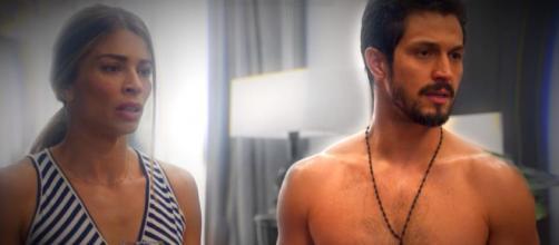 'Bom Sucesso': Mesmo desconfiando das intenções de Marcos, Paloma se entrega ao rapaz. (Reprodução/TV Globo)