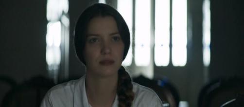 Fabiana bota o terror no convento. (Reprodução/ Rede Globo)