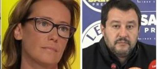 Ilaria Cucchi e Matteo Salvini.