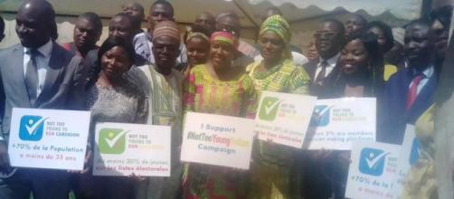 "Lancement officiel du concept ""Not too young to run Cameroon"" Crédit: Odile Pahai"