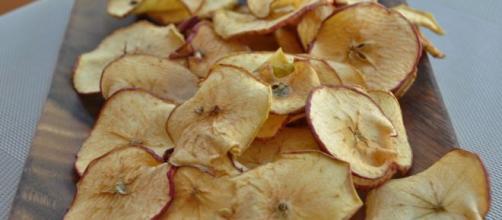 Las manzanas deshidratadas son alimentos conservados. - pinterest.es